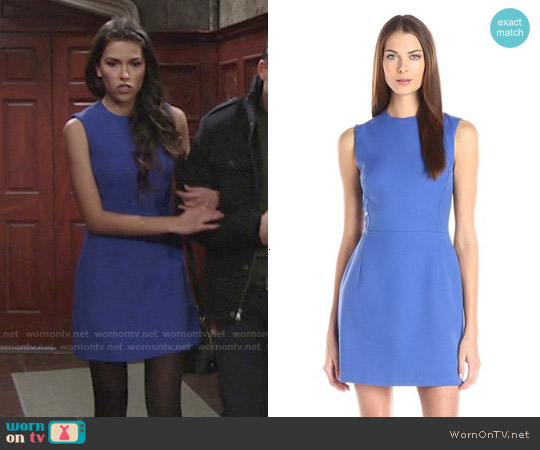 French Connection Sundae Dress in Empire Blue worn by Sofia Pernas on The Young & the Restless