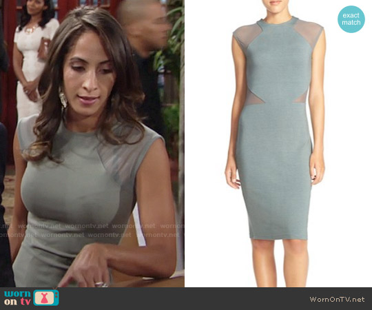 French Connection Viven Dress worn by Christel Khalil on The Young & the Restless