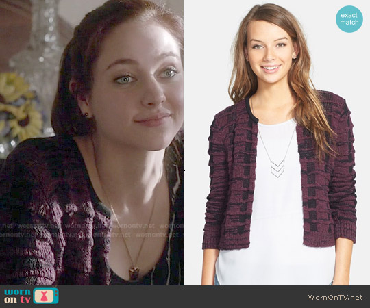 Frenchi Crew Neck Cardigan worn by Haley Ramm on Chasing Life