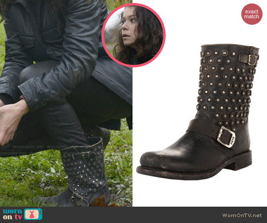 Frye Jenna Disc Short Ankle Boots worn by Tatiana Maslany on Orphan Black