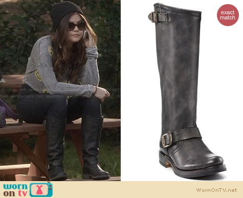 Frye Veronica Slouch Boots worn by Lucy Hale on Pretty Little Liars
