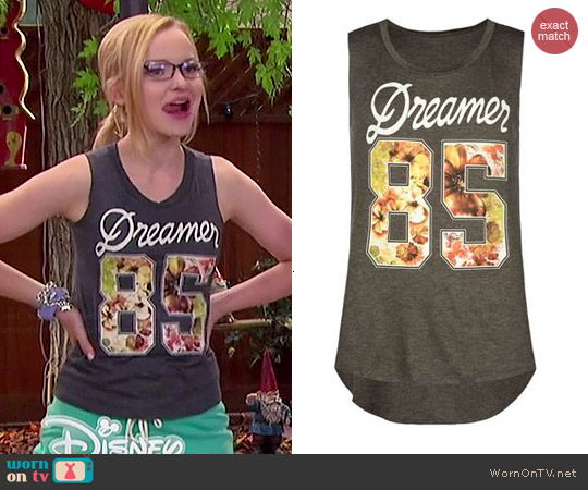 Full Tilt Dreamer 85 Muscle Tank worn by Dove Cameron on Liv and Maddie