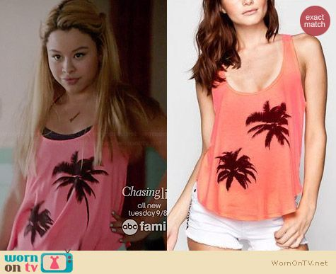 Full Tilt Palm Tree Tank worn by Cierra Ramirez on The Fosters