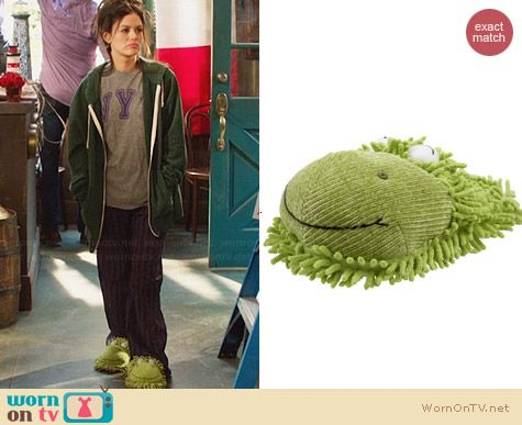 Fuzzy Friends Frog Slippers worn by Rachel Bilson on Hart of Dixie