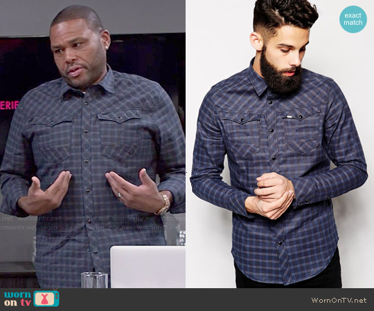 G Star Raw Arc 3D Tale Check Shirt worn by Anthony Anderson on Blackish