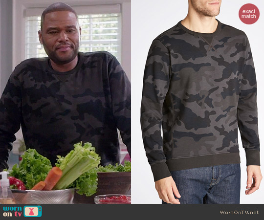 G Star Raw Ainsdock Camo Sweatshirt worn by Anthony Anderson on Black-ish