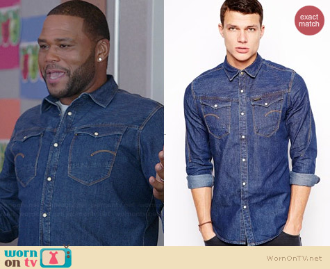 G Star Arc 3d Denim Shirt worn by Anthony Anderson on Black-ish