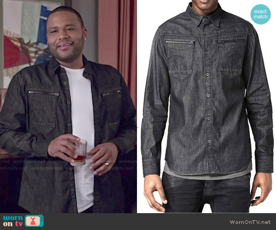 G Star Raw Arc Shirt with Zips worn by Anthony Anderson on Blackish