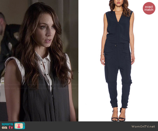 G Star Avity Radar Suit worn by Troian Bellisario on PLL