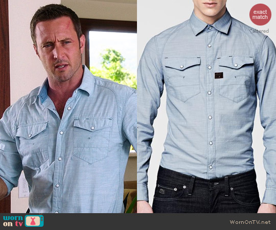 G Star Raw Cargo Arizona Shirt worn by Alex O'Loughlin on Hawaii Five-O