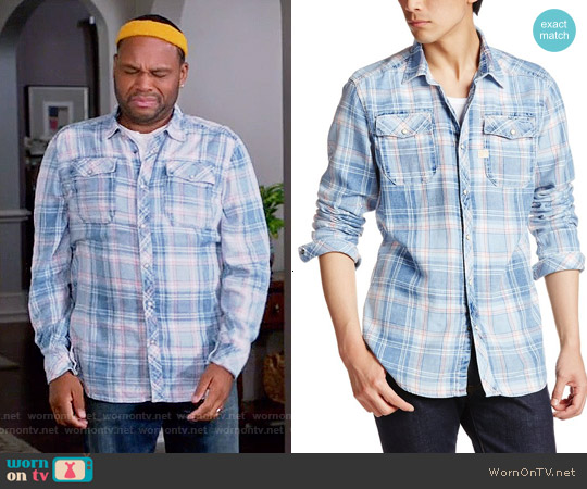 G Star Raw Landoh Shirt in Rinsed worn by Anthony Anderson on Blackish