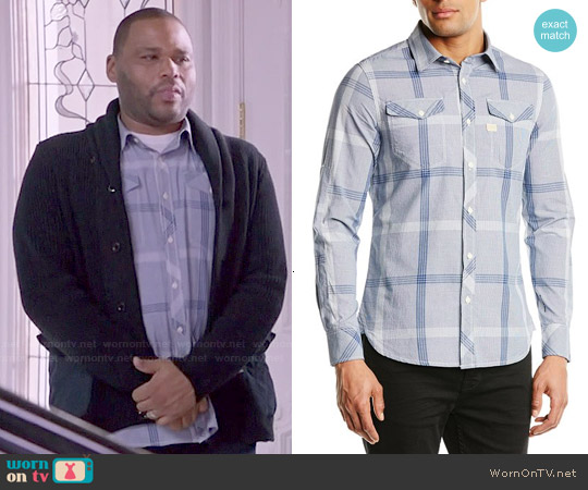 G Star Raw 'Landoh' Shirt in Swedish Blue worn by Anthony Anderson on Blackish