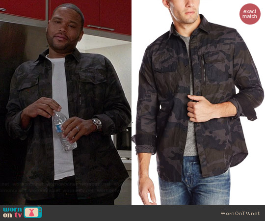 G Star Raw Rackler Camo Zip Shirt worn by Anthony Anderson on Black-ish