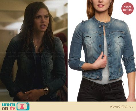 G Star Raw Attacc Denim Jacket worn by Aimee Whitehill on Star-Crossed