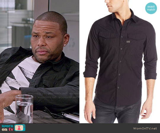 G Star Raw Rovic Shirt in Black worn by Andre Johnson on Blackish