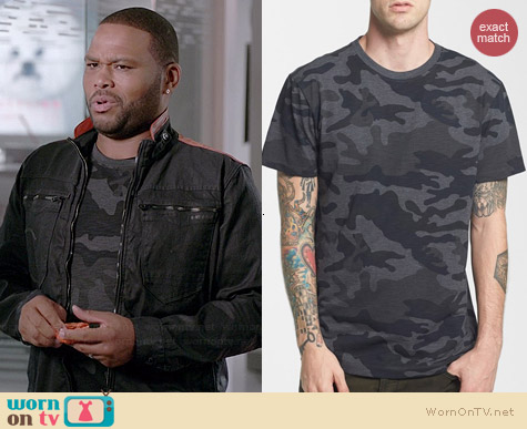 G Star Raw Camo Print T-shirt worn by Anthony Anderson on Black-ish