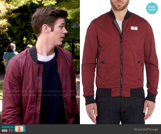 G Star Raw Showerproof Full Zip Bomber Jacket worn by Grant Gustin on The Flash