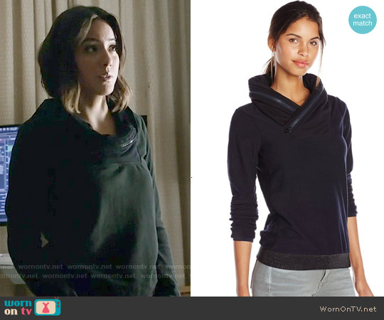 G Star Raw Flor Collared Sweatshirt worn by Chloe Bennet on Agents of SHIELD