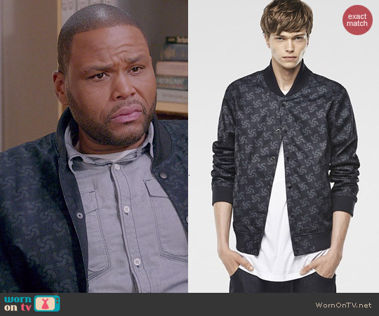 G Star Raw for the Oceans Printed Fallden Bomber Jacket worn by Anthony Anderson on Blackish