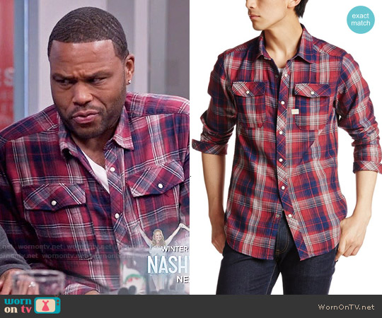 G Star Raw Landoh Rinsed Shirt worn by Anthony Anderson on Blackish