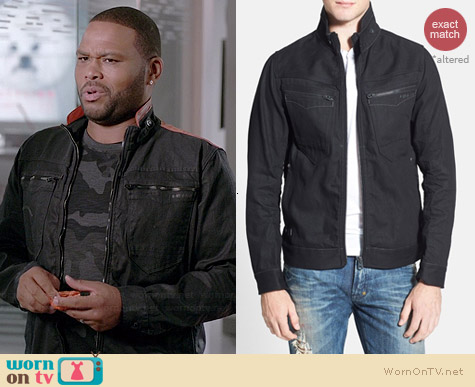 G Star Raw NW Arc Zip Raw Jacket worn by Anthony Anderson on Black-ish