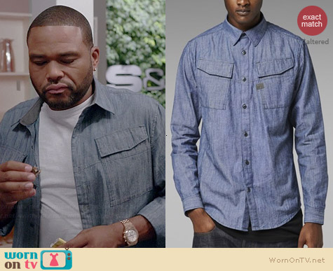 G Star Raw Rackler Chambray Shirt worn by Anthony Anderson on Black-ish