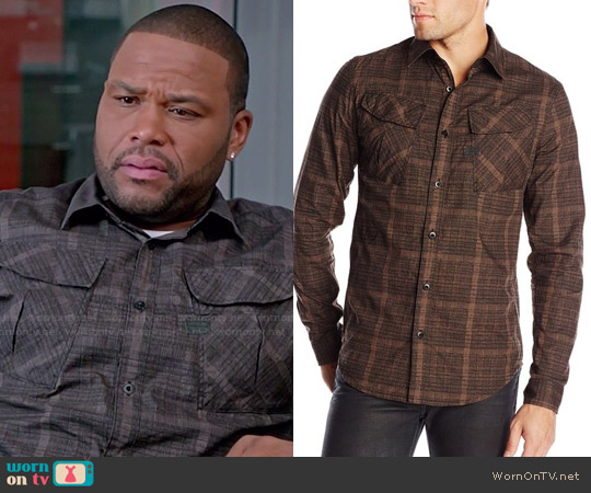 G Star Raw Rackler Check Shirt worn by Anthony Anderson on Blackish