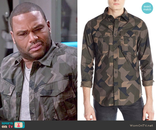 G Star Raw 'Rovic' Shirt in Dark Combat worn by Anthony Anderson on Blackish