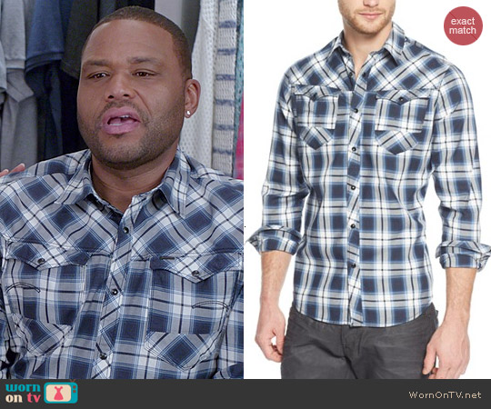 G Star Raw Therman Arc 3D Plaid Shirt worn by Anthony Anderson on Blackish