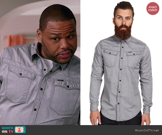 G Star Tailor Shirt worn by Anthony Anderson on Black-ish