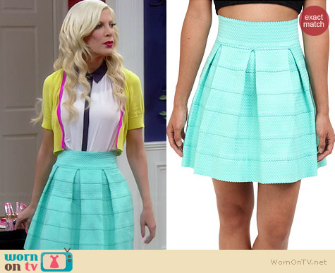 Gabriella Rocha Sophey Skirt in Mint worn by Tori Spelling on Mystery Girls