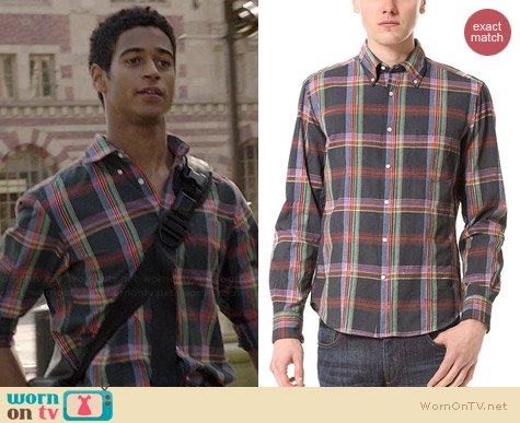 Gant Rugger Madras Shirt worn by Alfred Enoch on HTGAWM