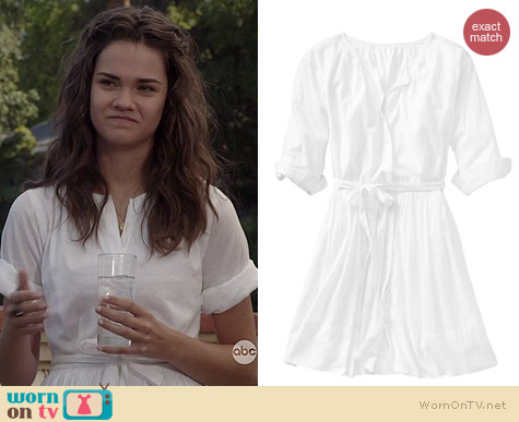 Gap Flared Shirtdress worn by Maia Mitchell on The Fosters