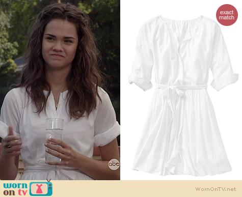 Wornontv Callie S White Shirtdress On The Fosters Maia