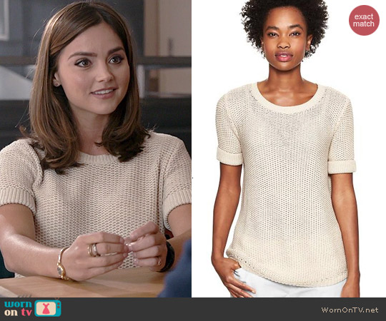 Gap Openstitch Sweater Top worn by Jenna Coleman on Doctor Who