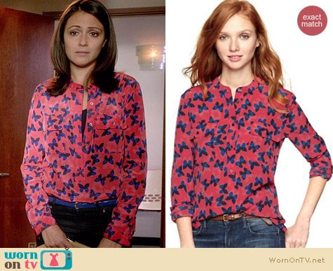 Gap Pocket Popover in Butterflies worn by Italia Ricci on Chasing Life