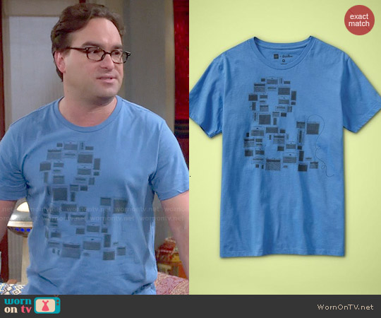 Gap + Threadless Ampersand Tee worn by Johnny Galecki on The Big Bang Theory