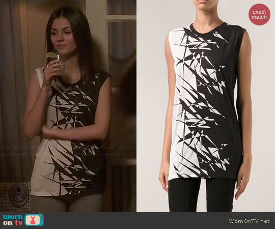 Gareth Pugh Fractured Tank worn by Victoria Justice on Eye Candy