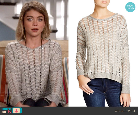 Generation Love Cleo Mesh Sweater worn by Sarah Hyland on Modern Family