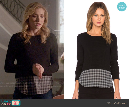 Generation Love Coco Plaid Sweater worn by Skyler Samuels on Scream Queens