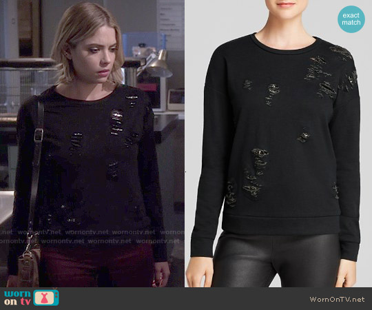 Generation Love Tyrion Chainmail Sweatshirt worn by Ashley Benson on PLL
