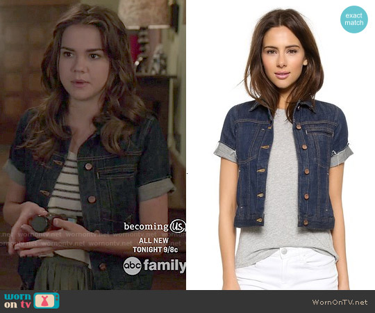 Genetic Blondie Denim Jacket worn by Maia Mitchell on The Fosters