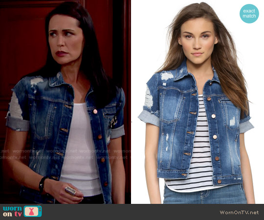 Genetic Blondie Jacket in Thrash worn by Rena Sofer on The Bold & the Beautiful
