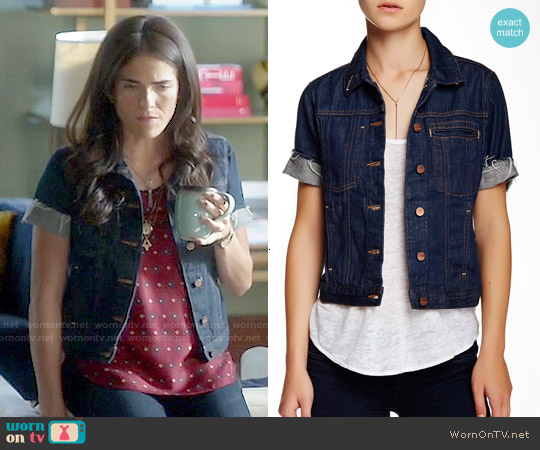 Genetic Blondie Denim Jacket worn by Karla Souza on HTGAWM