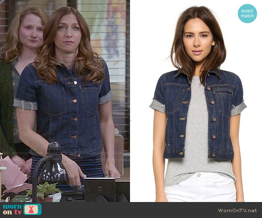 Genetic Los Angeles 'Blondie' Short Sleeve Denim Jacket worn by Chelsea Peretti on Brooklyn Nine-Nine