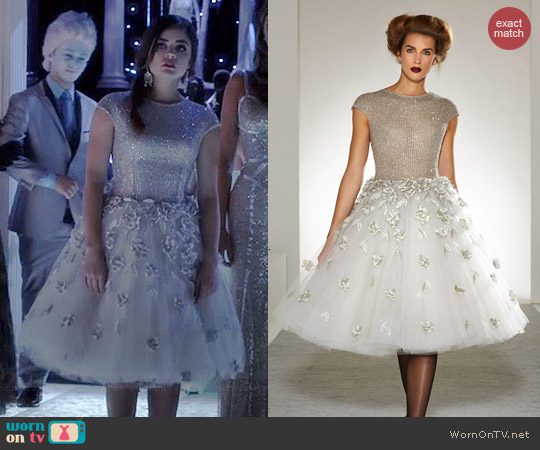 Georges Chakra Fall 2013 Collection Dress worn by Lucy Hale on PLL