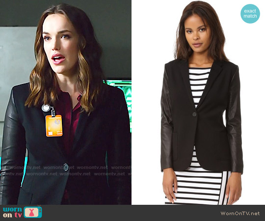 Getting Back to Square One Blazer with Leather worn by Jemma Simmons on Agents of SHIELD