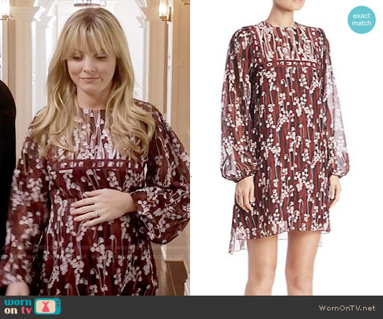 Giamba Floral Blouson Dress worn by Kaitlin Doubleday on Empire