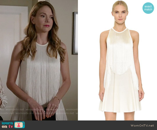 Giamba Sleeveless Fringe Dress worn by Sutton Foster on Younger