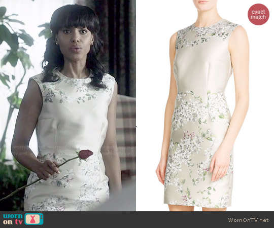 Giambattista Valli Jacquard Shift Dress worn by Kerry Washington on Scandal